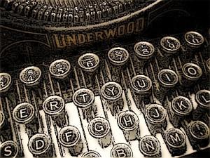 Old typewriter keys - drawing