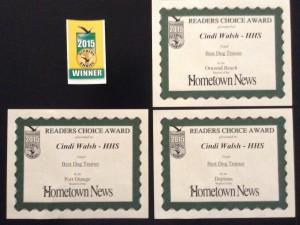 Cindi's Training Awards