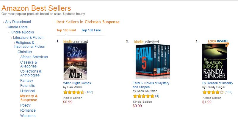 WNC No 1 on Amazon 1 yr later