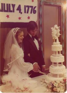 dan-and-cindi-cutting-wedding-cake-1976